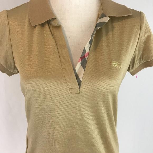 Burberry Tops - Burberry women s polo shirt sleeve shirt 3bcfff558